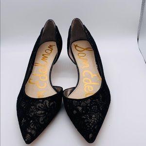Sam Edelman black Nude lace Mini pump shoe